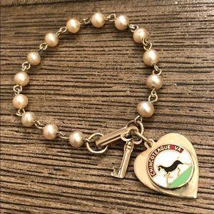 Vintage Chincoteague VA Travel Charm Bracelet
